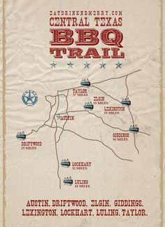 Central Texas BBQ Trail... great summer trip.