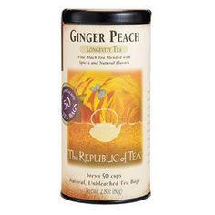 The Republic of Tea - Ginger Peach Black Tea Bags