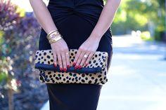 Bag: c/o Love, Cortnie Leopard print clutch