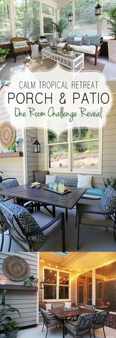 Complete makeover of a screened porch and patio with built in bench. Must see DIY projects.
