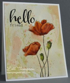 Blooming Poppies by Loll Thompson - Cards and Paper Crafts at Splitcoaststampers