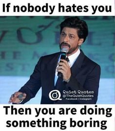 Tht's so true Shah Rukh Khan Quotes, Quiet Quotes, Black Pearl Ship, Dear Zindagi, Bollywood Quotes, Life Quotes Pictures, Genius Quotes, Sr K, Jealous Of You