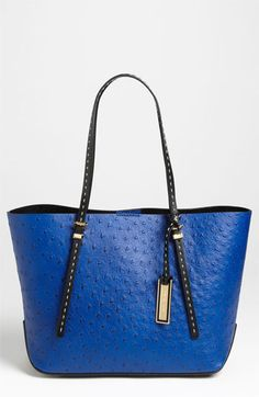 Michael Kors 'Gia - Small' Ostrich Embossed Leather Tote available at #Nordstrom .....MK's got it going on with this purse. I love it.