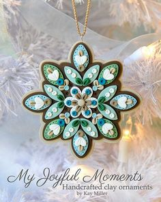 Quilted Snowflake in polymer clay!