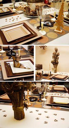 Décoration de table de Noel 2012-2013 - Table blanche et chocolat - Blog déco Arts Ephémères