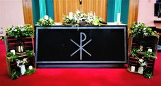 Altar decor, rustic, Church Fashion, Altar Decorations, Church Ceremony, Vip, Rustic, Lettering, Weddings, Style, Country Primitive