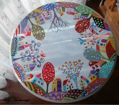 Hand painted table. I like Karla GERARD