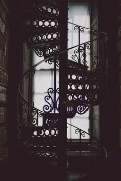 Trinity College Library metal staircase, The Long Hall by Beth Kirby | Dublin {local milk}, via Flickr