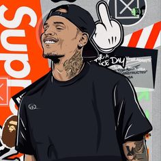 AYEEE 😍🔥🔥🔥 Chris Brown Drawing, Chris Brown Art, Arte Do Hip Hop, Hip Hop Art, Cris Brown, Chris Brown Wallpaper, Chris Brown Pictures, Foto 3d, Trill Art