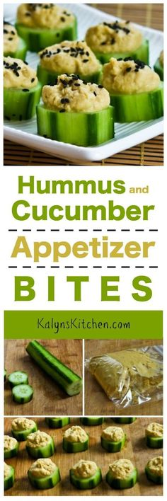 Every football-watching party needs at least one healthy appetizer, and these Hummus and Cucumber Appetizer Bites with Sesame Seeds are tasty and easy to make! [found on KalynsKitchen.com]