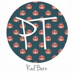 """12""""x12"""" Patterned Heat Transfer Vinyl - Red Barn"""