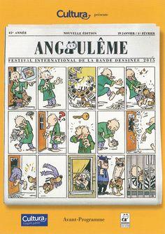 Festival de la Bande Desinée Angoulème Francia- Comics y exposiciones Cartel 2015 #BD #comic #Angouleme