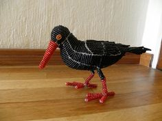 African Beaded Wire Animal Sculpture AFRICAN BLACK от Hadeda