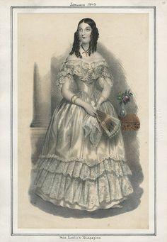 Miss Leslie's Magazine January 1843 LAPL