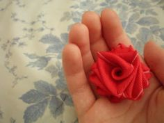 a bite of allison: How to: Make a Ribbon Flower