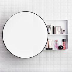 Spegelskåp Svedbergs Jenny 3320S golvpoolen.se Circular Mirror, Mirror Cabinets, Smart Storage, Washroom, Bauhaus, Furniture, Design, Home Decor, Ideas