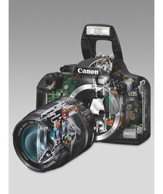 what does the inside of a DSLR Camera look like  Size; 942 x 1123 Source; www.howitworksdaily.com