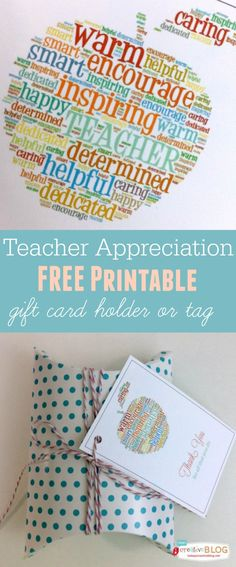 FREE printable teacher appreciation