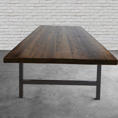 Large Conference room table custom made for you with reclaimed century old lumber thick top and steel legs. Prices quoted here are for the thick