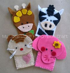 My Little Lizzie Handmade Craft - Catalogue: Finger Puppets                                                                                                                                                                                 More
