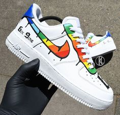 Nike Air Force 1 Custom - shoes sneakers - Best Shoes World Nike Air Force Ones, Air Force Shoes, Custom Sneakers, Shoes Sneakers, Nike Custom Shoes, Custom Boots, Retro Sneakers, Shoes Men, Shoes Sandals