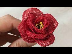 Beaded Flowers, Diy Flowers, Crochet Flowers, Fabric Flowers, Strawberry Hair, Felt Crown, Needle Lace, Bargello, Newborn Photo Props
