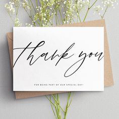 wedding thank you cards thank you cards personalised thank Design 2019 - Cards 2000 ~ Invitations Ideas Personalized Thank You Cards, Personalized Wedding, Thank You Typography, Cute Office Supplies, Thank You Card Design, Calligraphy Cards, Holiday Images, Thanks Card, Picture Cards