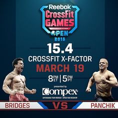 """""""Don't miss it! Tonight at 5 PM these guys go head-to-head. Come to the gym and watch it go down. #theopen #compete #CrossFit #crossfitdude #crossfitguys #fitness #exercise #strength #sancarlos #instafitness #hgx #HGXFIT"""" Photo taken by @hgxfit on Instagram, pinned via the InstaPin iOS App! http://www.instapinapp.com (03/19/2015)"""