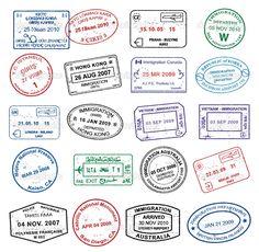 Pasport Stamps — Stock Vector #6697187