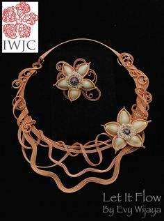 Let it flo by Evi WIJaya IWJC (Indonesia Wire Jewelry Community)