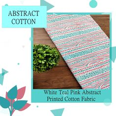 Abstract printed fabric is a highly celebrated fabric in the fashion world . It's soft and beautiful abstracts art makes it a classic pick for all time occasions. We have a collection of best abstract printed fabric, it's a must to have in your wardrobe to make your life colorful. Pink Abstract, Abstract Print, Woven Fabric, Cotton Fabric, Teal And Pink, Printed Cotton, Printing On Fabric, Textiles, Kids Rugs