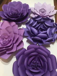 A personal favorite from my Etsy shop https://www.etsy.com/listing/468680407/purple-passion-large-paper-flower-paper