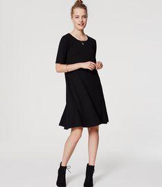 Primary Image of Petite Short Sleeve Swing Dress - petite sz M