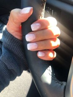 Cute Acrylic Nails, Acrylic Nail Designs, Cute Nails, Short Square Acrylic Nails, Short Square Nails, Acrylic French Manicure, Natural Acrylic Nails, French Manicure With Design, Summer French Manicure