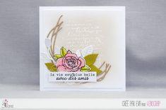 """Eva : #Tampons et #matrices de coupe #dies #4enSCRAP """"#roses"""" #fleurs #scrapbooking #DIY #loisirscréatifs #carte #carterie Mini Albums, Nature Rose, Tampons Transparents, Scrapbooking Diy, Cards, Card Ideas, Roses, Spring, Bonheur"""