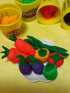 Playdough vegetables!!!