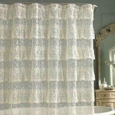 Priscilla Bathroom Shower Curtains