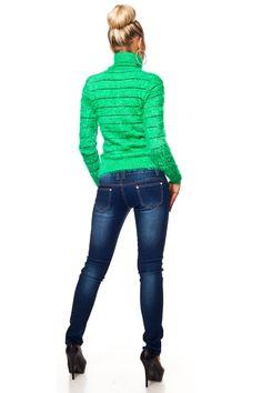 High Waist Corsage Röhren Skinny Jeans mit Deko Gold Knöpfe