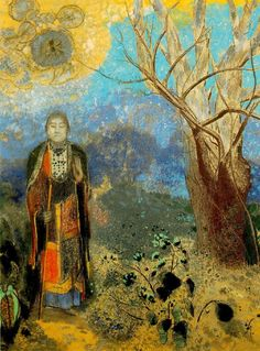 Odilon Redon, The Buddha , x in. Odilon Redon was a French Symbolist artist who worked in painting, p. Kandinsky, Monet, Buddha Canvas, Odilon Redon, Kunst Poster, Painting Prints, Art Prints, Canvas Prints, Mystique
