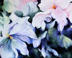 Flower Watercolor Painting Flower Painting by NancyKnightArt