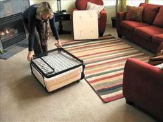 Fold-Out Ottoman Bed - Folding Ottoman Sleeper | Solutions