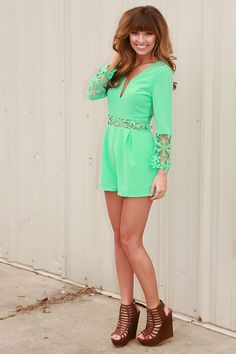 Just Be Free Romper: Mint #shophopes