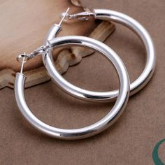 E149 Lose money Promotion! hoop round silver earrings silver fashion jewelry, 5MM Hollow Earrings pendientes/brincos 925