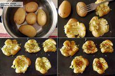 Patatas machacadas, receta de guarnición