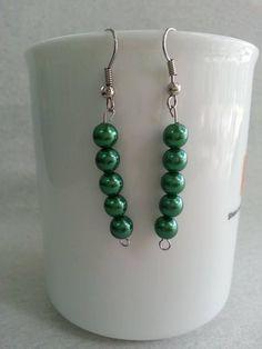 DIY Simple Stringed Bead Earrings