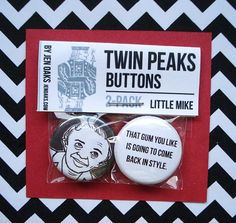 Twin Peaks Buttons Little Mike by jenoaks on Etsy #twin_peaks #man_from_another_place