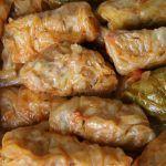 Töltött Káposzta Recipe (Hungarian stuffed cabbage rolls over sauerkraut) Hungarian Stuffed Cabbage, Good Food, Yummy Food, Romanian Food, Cabbage Rolls, Jewish Recipes, Halloween Food For Party, Good Enough To Eat, Mets
