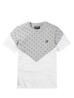 Lyle and Scott Cut-and-Sew Cross Print T-shirt