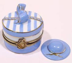 Blue Hat box Limoges Box