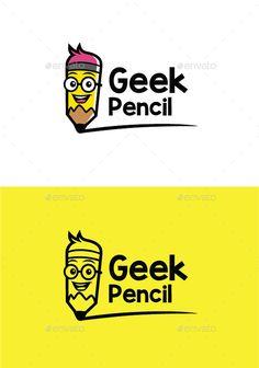 Geek Pencil Logo Template #design #logotype Download: http://graphicriver.net/item/geek-pencil-logo/12501072?ref=ksioks